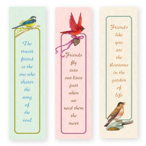 Wings of Friendship Bookmarks Set of 12