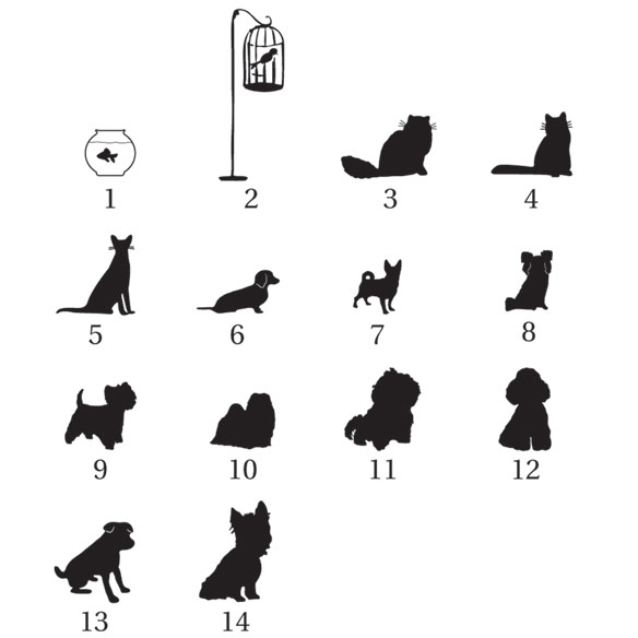 Pet Silhouette Greeting Card Set of 20 - View 2