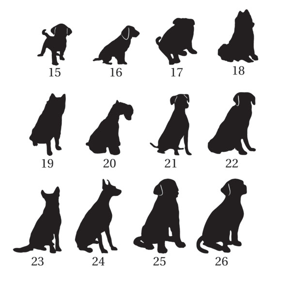 Pet Silhouette Greeting Card Set of 20 - View 3