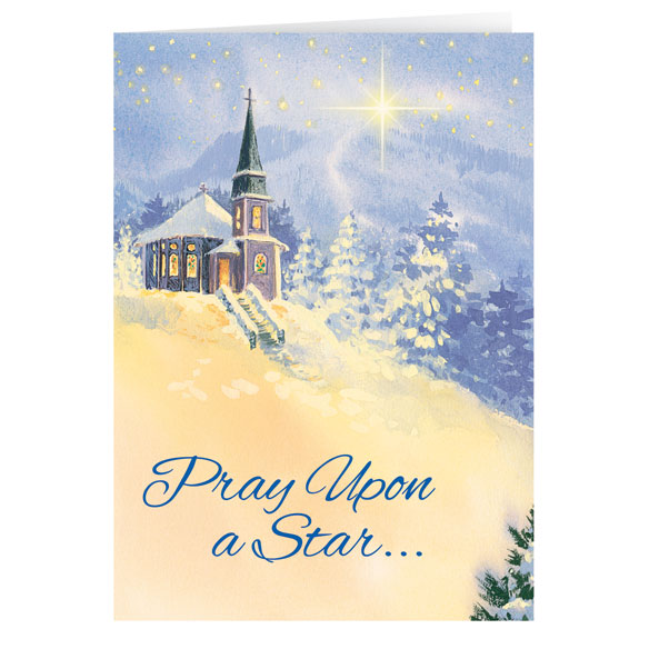 Pray Upon A Star Christmas Card - Set Of 20 - View 1