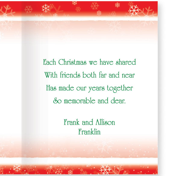 Years Together Teddy Bear Couple Christmas Card Set of 20 - View 3
