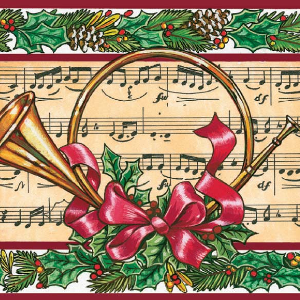French Horn Christmas Card - Set Of 20 - View 3