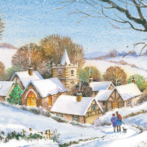 Peaceful Village Christmas Card - Set Of 20 - View 3