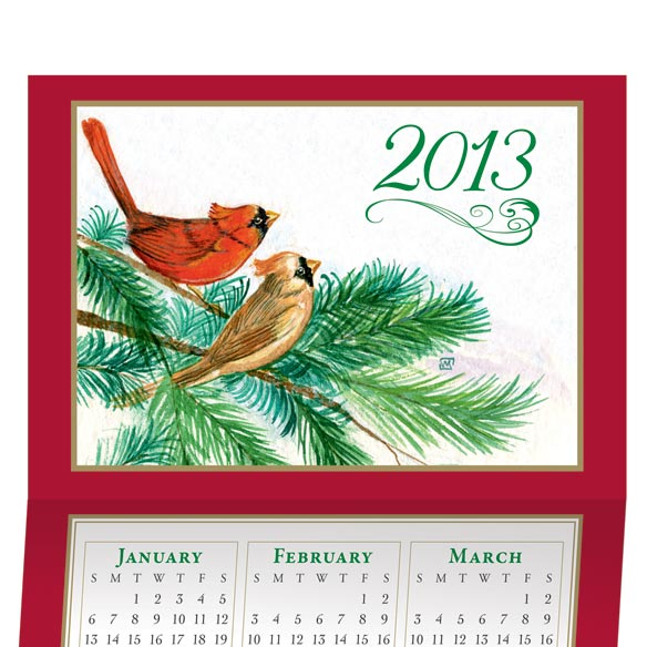 Cardinal Calendar Card Set of 20 - View 1
