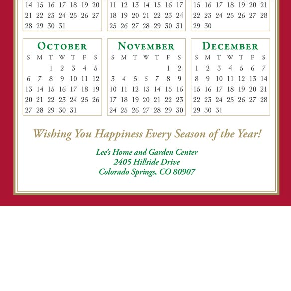 Cardinal Calendar Card Set of 20 - View 2