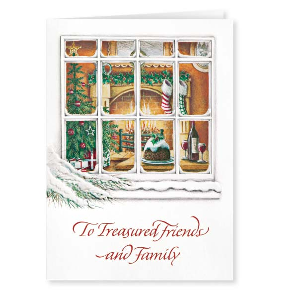 Treasured Friends Christmas Card Set of 20 - View 2