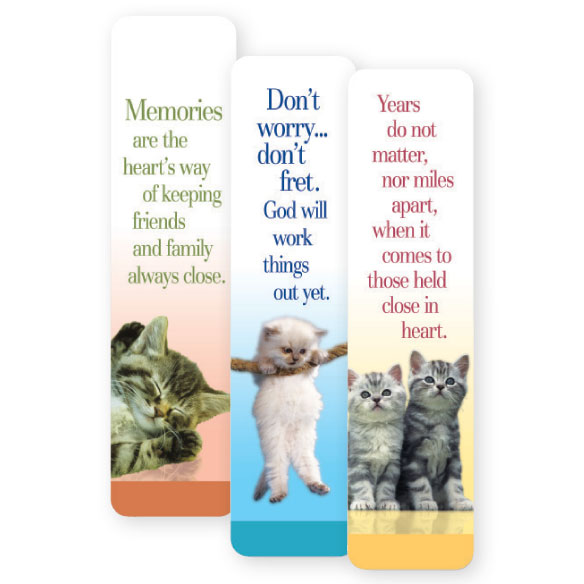 Cat Bookmarks - Set Of 12 - View 1