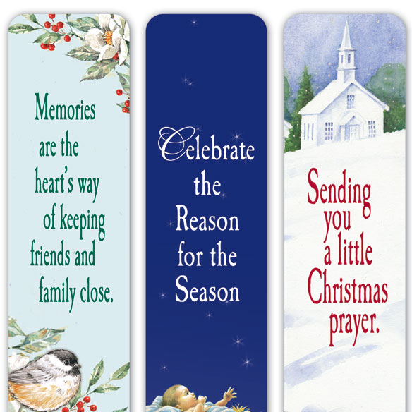 Christmas Bookmarks Set of 12 - View 3