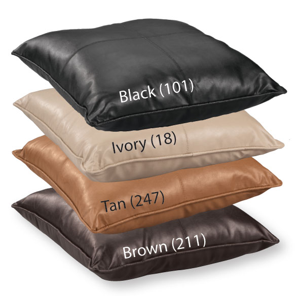 Faux Leather Throw Pillow - View 2