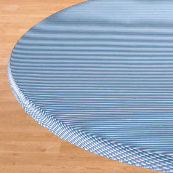 Pinstripe Elasticized Table Cover - View 2