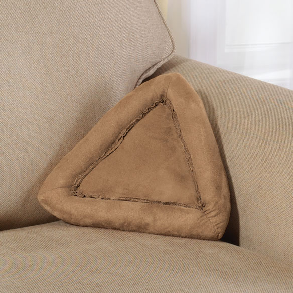 Brown Suede Book Pillow - View 2