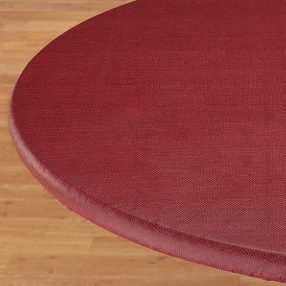 Classic Weave Elasticized Table Cover - View 3