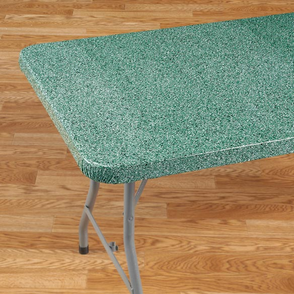 Granite Vinyl Elasticized Banquet Table Cover - View 3