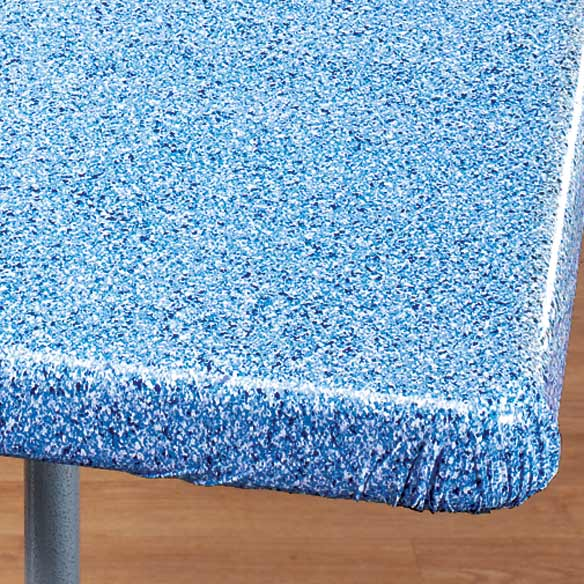 Granite Vinyl Elasticized Banquet Table Cover - View 5