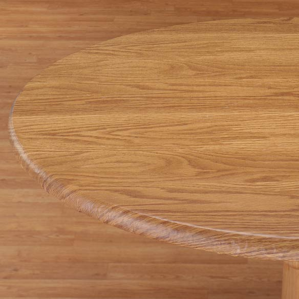 Wood Grain Fitted Table Cover - View 3