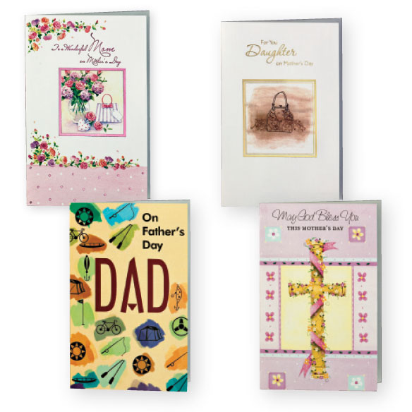 Mother's and Father's Day Cards Value Pack of 12 - View 3