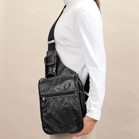 Patch Leather Organizer Bag - View 2
