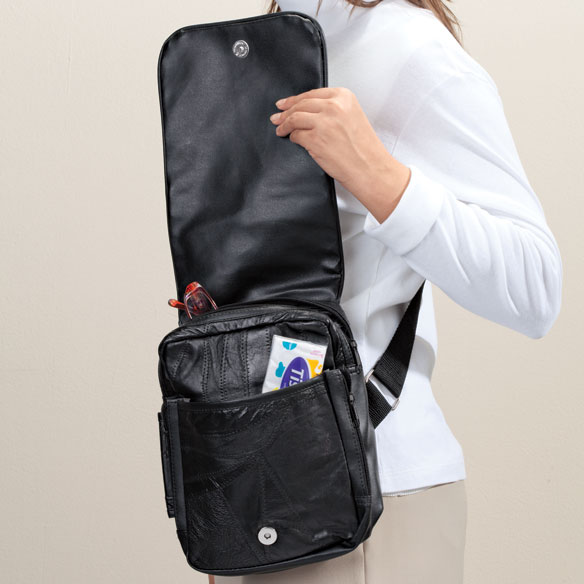 Patch Leather Organizer Bag - View 3