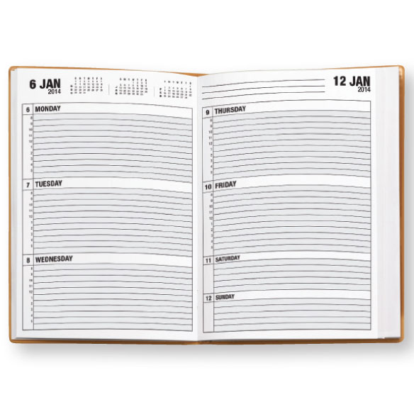 Cognac Collection 1-Year Planner, Plain - View 3