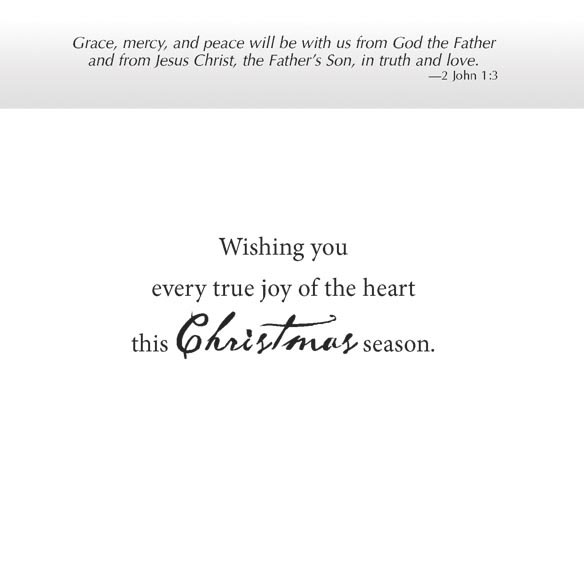 Cardinal Blessings Nonpersonalized Christmas Card Set of 20 - View 3