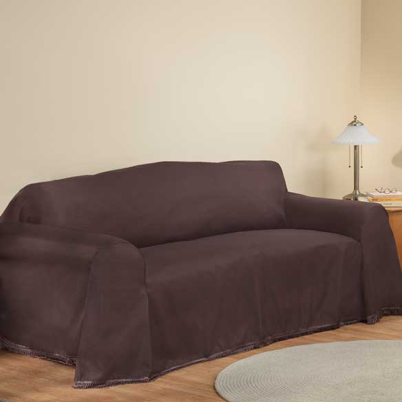 Microfiber sofa slipcover washable slipcover walter drake for Microfiber sectional sofa slipcovers