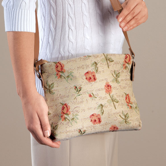 Flower Print Tapestry Handbag - View 1