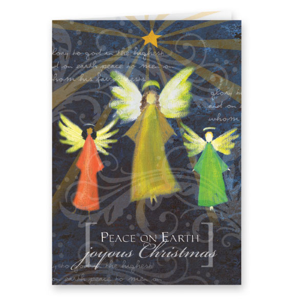 Joyous Angel Trio Christmas Card, Set of 20 - View 1