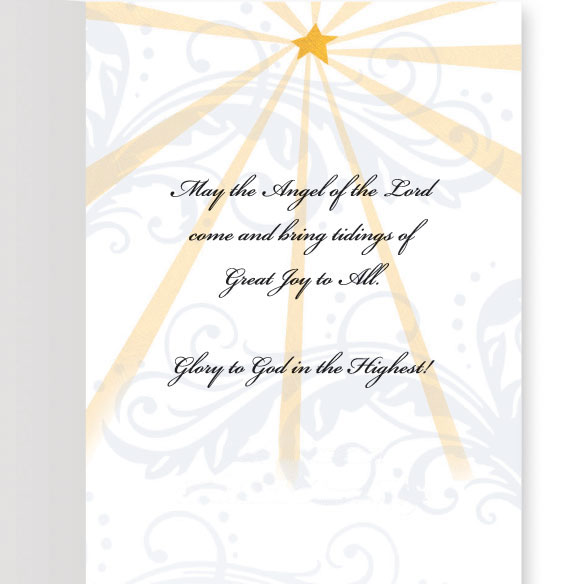Joyous Angel Trio Christmas Card, Set of 20 - View 2