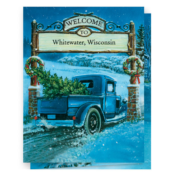 Nostalgic Village Christmas Card Set of 20 - View 1