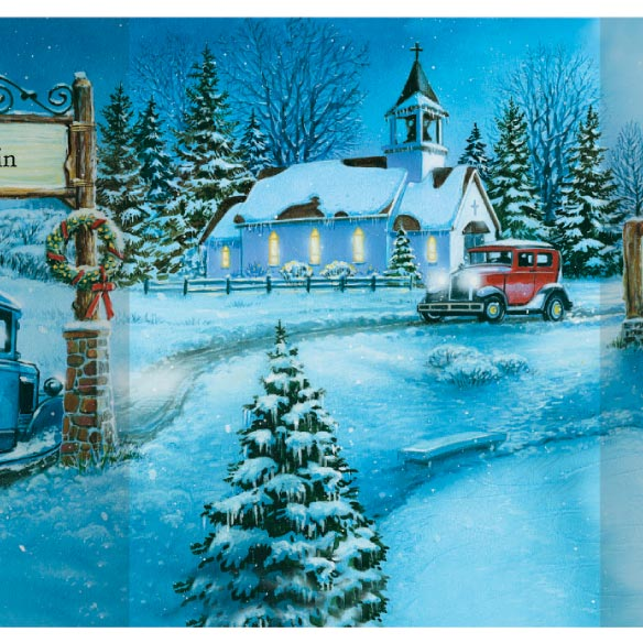 Nostalgic Village Christmas Card Set of 20 - View 2