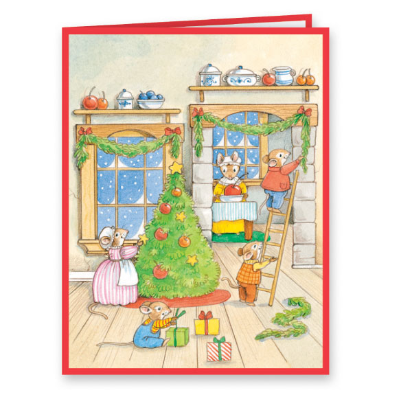 Holiday Thyme Christmas Card Set of 20 - View 1