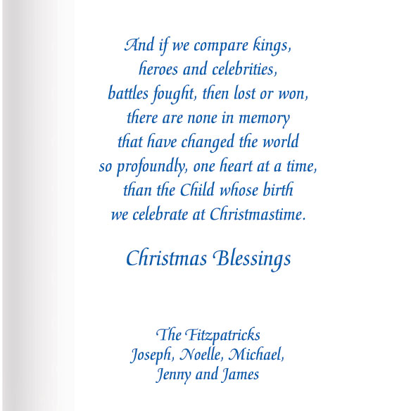 Satin Nativity Christian Christmas Card Set of 20 - View 4
