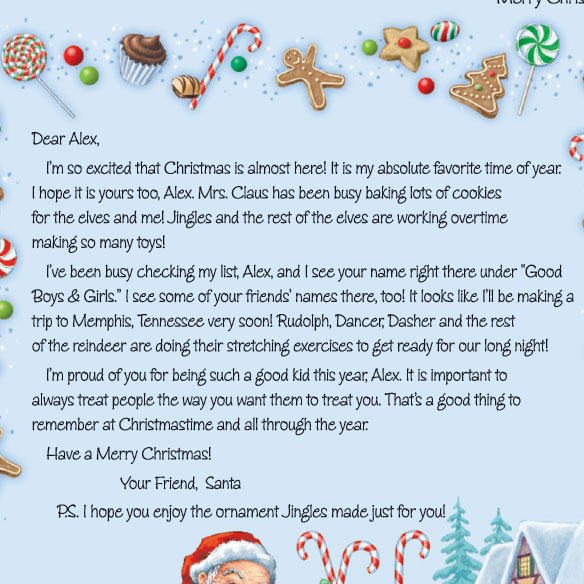 Personalized Christmas Letter From Santa 2013 - View 2