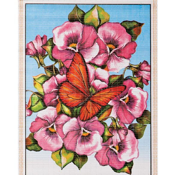 Floral Butterfly Wall Scroll Calendar - View 1