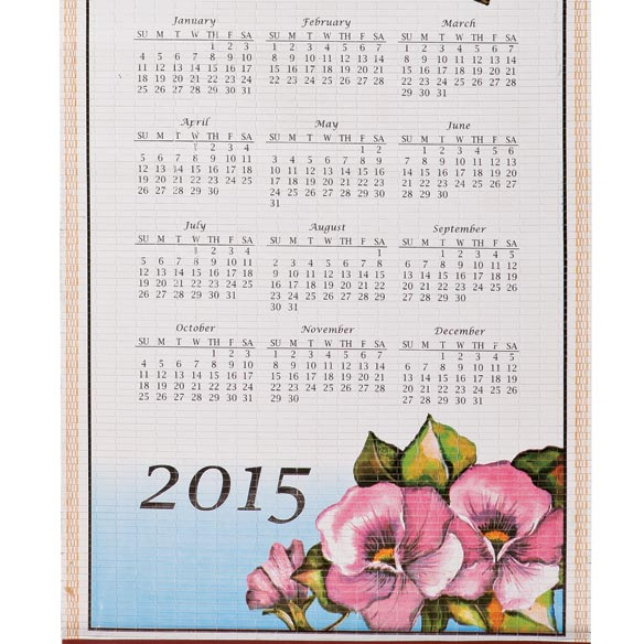 Floral Butterfly Wall Scroll Calendar - View 2