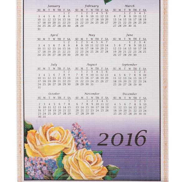 Floral Butterfly Wall Scroll Calendar - View 4