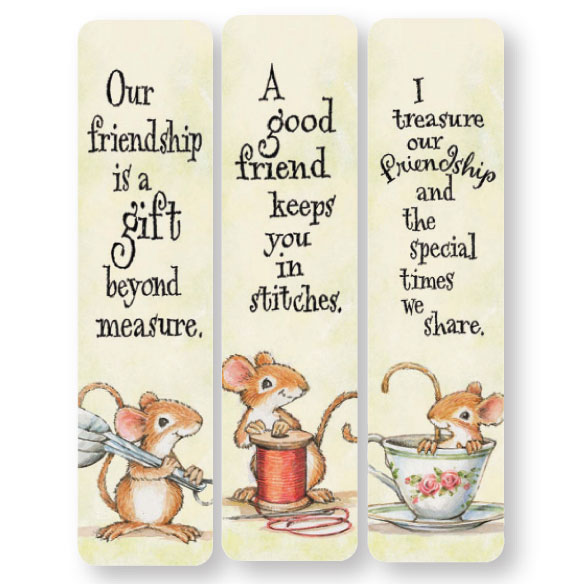 Friendship Mice Bookmarks, Set of 12 - View 3