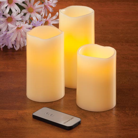 LED Flicker Candles - Set Of 3 - View 1
