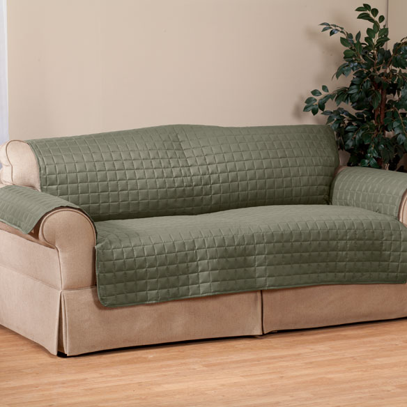 Microfiber Loveseat Protector by OakRidge Comforts™ - View 2
