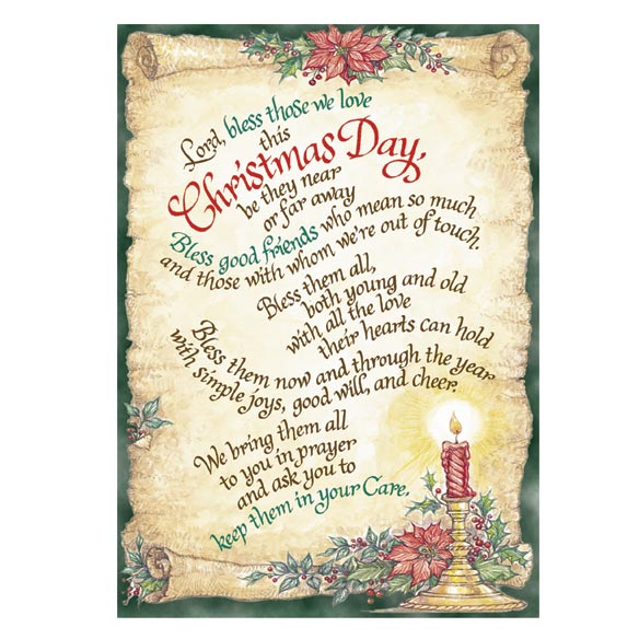 Bless Those We Love Christmas Card Set of 20 Plain - View 1