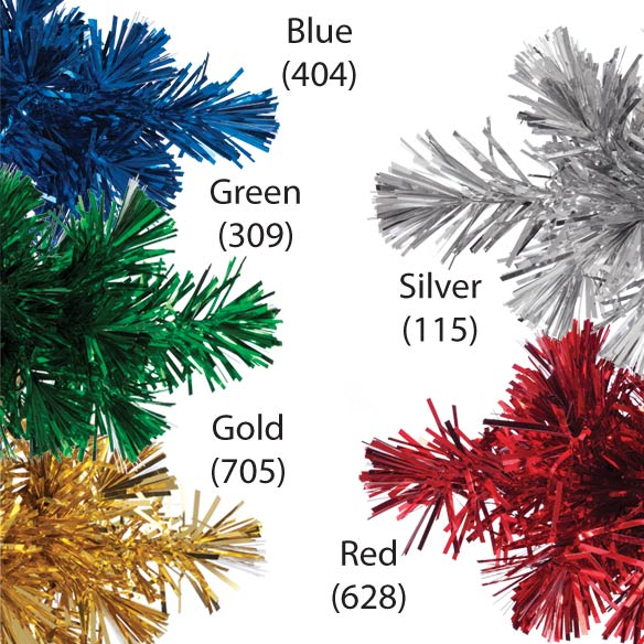 "8"" Fiber Optic Tinsel Tree - View 2"