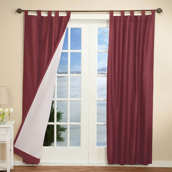 Energy Saving Tab Top Curtains Set Of 2 - View 2