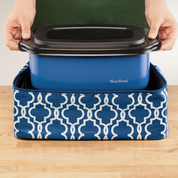 West Bend® Cook & Tote™ - Blue - View 1