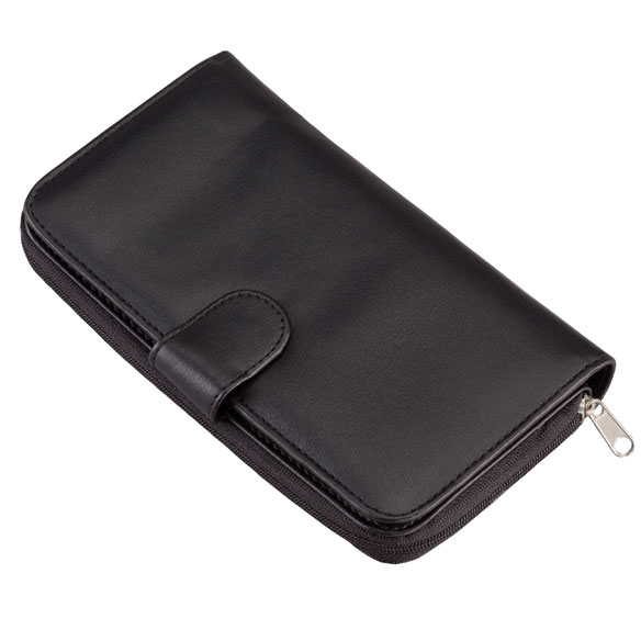 Zip and Snap Wallet  - Black - View 1