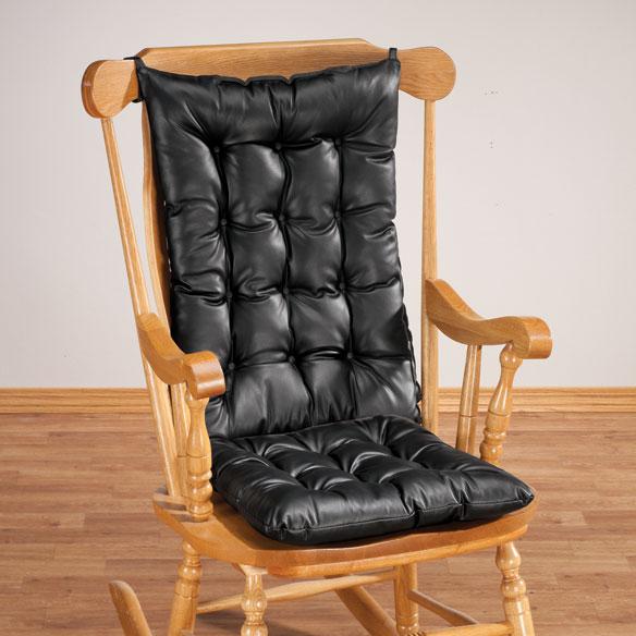 Faux Leather Rocking Seat Cushions Seat Cushions Walter Drake