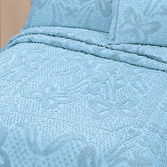 The Caroline Chenille Bedding by East Wing Comforts - View 3