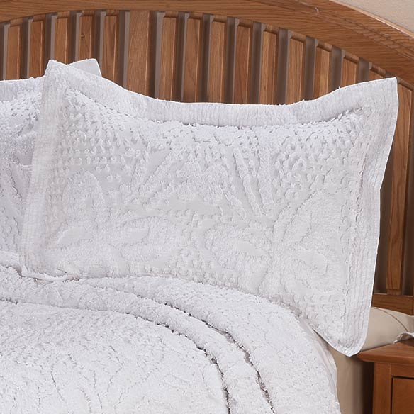 The Caroline Chenille Bedding Sham - View 2