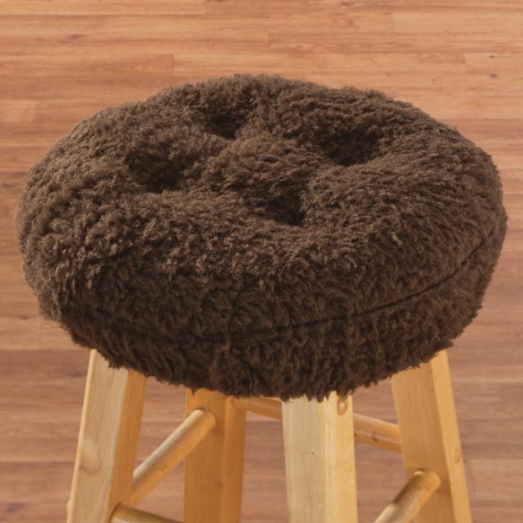 Sherpa Bar Stool Cushion by OakRidge Comforts™ - View 2