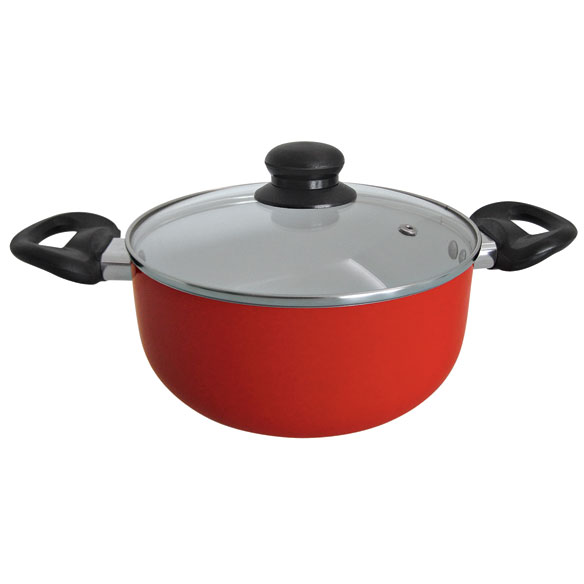 Red Ceramic Dutch Oven - 3 Qt. - View 2