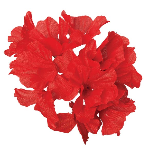 Artificial Red Geraniums - View 3